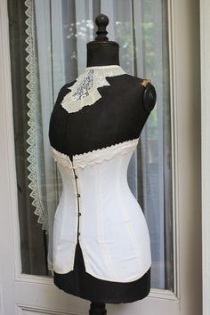 Original antique French Victorian Corset,  in decent condition . by LaChineuseFrancaise on Etsy