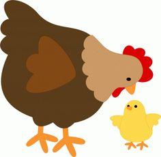 hen chicken gallina pollito clipart granja farm