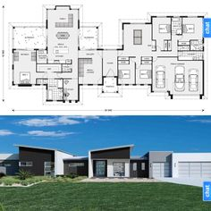 Split areas again, but can convert space for in laws easily house design in 6 Bedroom House Plans, Bungalow House Plans, Family House Plans, Best House Plans, Dream House Plans, House Floor Plans, Pool House Designs, Modern House Design, School Floor Plan