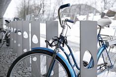 Bicycle racks designed by Snøhetta
