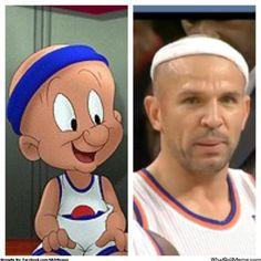 Jason Kidd formerly of the New York Knicks looks like Elmer Fudd in Space Jam! LMAO!