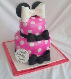 Minnie Mouse Pink Birthday Cake by susanna