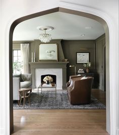 Western Springs, Tudor Style Homes, Open Shelving, Architecture Details, Living Room Designs, Summer Mantel, Before And After Diy, Interior Design, Home Renovation