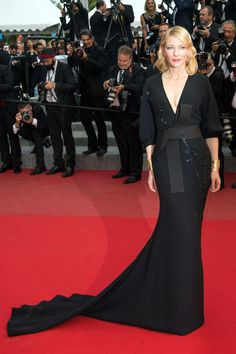 Cate Blanchett wearing Armani Prive at Cannes