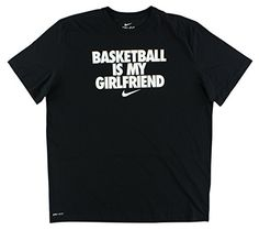 NIKE Nike Mens Basketball Is My Girlfriend T Shirt Black. #nike #cloth #