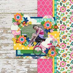 March Bingo Challenge #4: Paper Mashup: Floral and Plaid - Scrapbook.com