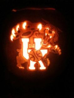 Kentucky wildcat jack-o-lantern