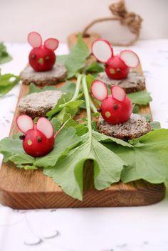 Radieschen-Mäuse als Deko fürs Auge, Buffet, Abendessen, Kinder Rezept, ganz einfach und schnell gemacht mit toller Wirkung