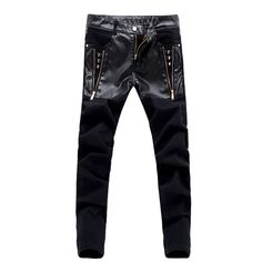 Check current price top quality fashion skull men jeans pants skinny leather denim trousers pantalon homme 28 36 ACL70 just only $26.51 with free shipping worldwide  #jeansformen Plese click on picture to see our special price for you