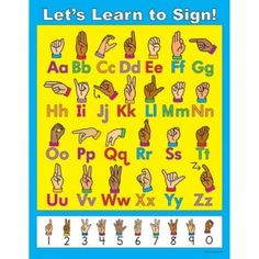 Let's Learn to Sign! sign language poster