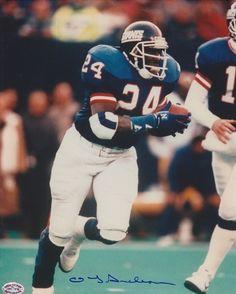 AAA Sports Memorabilia LLC - OJ Anderson Autographed New York Giants 8x10 Photo
