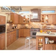 American Woodmark 14-1/2x14-9/16 in. Cabinet Door Sample in Del Ray Maple Spice-99774 - The Home Depot