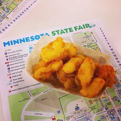 1st stop at the @mnstatefair: cheese curds the food building. #yum #mnstatefair #OnlyinMN