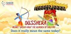 """Dusshera means """"Dasha- hara""""- the remover of bad fate…. Does it really mean the same today? Festivals, How To Remove, Parenting, Movie Posters, Film Poster, Childcare, Concerts, Film Posters, Raising Kids"""