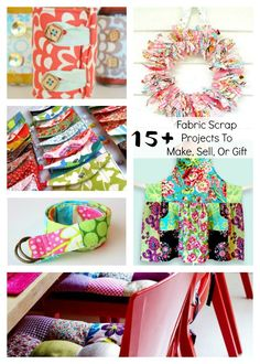 Fabric Scrap Projects To Make, Sell or Gift sewing round up sewing sew to sell sew round up fabric scraps