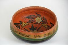Norwegian Rose Painted Ale Bowl (Ølbolle) from 1826 - Dia.27cm - NOK 1.000 | From THE ESSENCE OF THE GOOD LIFE™    http://www.pinterest.com/ConceptDesigner/   https://www.facebook.com/pages/The-Essence-of-the-Good-Life/367136923392157
