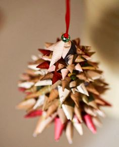 (Handmade Ornament Party) Handmade Christmas Tree Ornaments Vintage by TildenandNess on Etsy