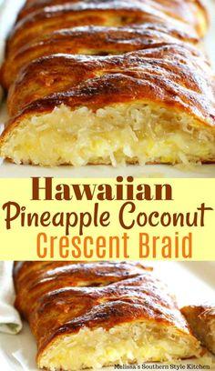 Coconut Recipes, Baking Recipes, Cake Recipes, Bread Recipes, Comida Boricua, Pineapple Recipes, Pineapple Coconut Bread, Hawaiian Dessert Recipes, Hawiian Recipes