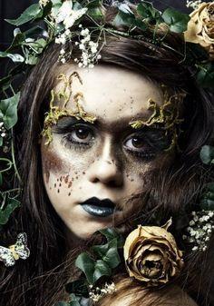 Non-Toxic Cosplay and Halloween Makeup Guide Fairy Makeup Cosplay guide Halloween Makeup NonToxic Witch Makeup, Sfx Makeup, Costume Makeup, Pixie Makeup, Makeup Art, Dark Fairy Makeup, Fantasy Makeup, Grey Makeup, Dramatic Makeup