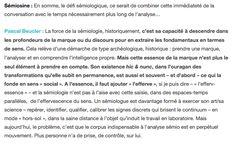 La sémiologie selon Pascal Beucler 2/
