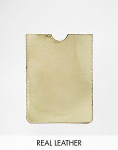 Black+&+Brown+Leather+iPad+Mini+Case