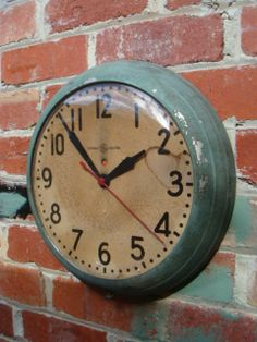 Old school clocks. Didn't we all spend a lot of time looking at this, hoping the hands would move faster.