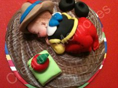 PINOCCHIO/Edible Cake Toppers Made of Vanilla Fondant by anafeke, $18.00