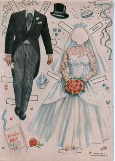Here's the Bride! Paper Dolls 1953