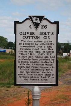 (SOUTH CAROLINA) Oliver Bolt's Cotton Gin