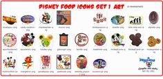Disney food and restaurant Icon set 1 (in production.)