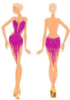 latin dress design