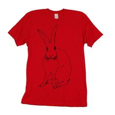 Bunny Tee Men's Red design inspiration on Fab.