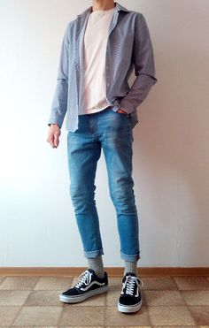 Vans old skool skinny jeans boys guys outfit vans love Teen Fashion Outfits, Urban Outfits, Boy Outfits, Casual Outfits, Men Casual, Perfect Outfit, Korean Fashion Men, Herren Outfit, Mens Clothing Styles