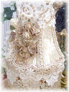 gorgeous lace lamp!!