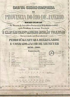 Legenda da Carta Cartográfica do Rio de Janeiro em 1858 1861.