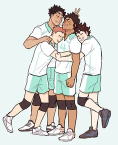 iwaizumi is the shortest third year on seijou- not by much, really, but the other third years tease him about it more often than he likes.  you know they're dead after this