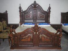 Image detail for -Pak Furniture's ****Antique Carved Furniture***** - Karachi - garden . Furniture, Carved Furniture, Beautiful Furniture, Luxury Furniture, Vintage Bed, Carved Beds, Colorful Furniture, Bed Images, Victorian Furniture Decor