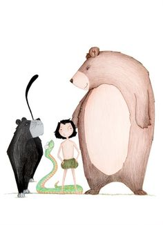 """""""¡Busca lo más vital nomás, lo que es necesidad nomás, y olvídate de la preocupación! """" El libro de la selva - Rudyard Kipling @larita20 #DLIJ"""