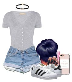 """""""Untitled #1412"""" by melaninprincess-16 ❤ liked on Polyvore featuring Michael Kors, Casetify and adidas Originals"""