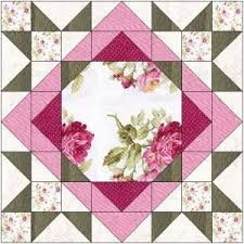 Image result for large floral focus block quilt