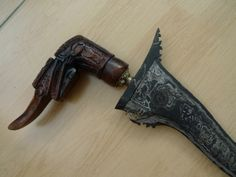 #5 BIRD HILT TRIPLE PAMOR KERIS PEKAKA Weapon Knife Dagger Sword Kris Blade