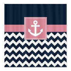 Nautical Shower CurtainNavy and White by GatheredNestDesigns, $78.00