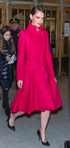 Naomi Campbell Closes Zac Posen Runway Show Fall/Winter 2015 - Celebrities at the Zac Posen Runway Show NYFW