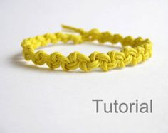 Beginners knotted bracelet tutorials two patterns by Knotonlyknots