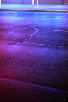 cool colors neon lights blend on road