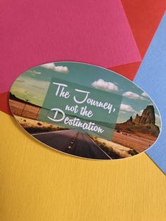 Hey, I found this really awesome Etsy listing at https://www.etsy.com/listing/353339549/journey-travel-sticker-small-or-large