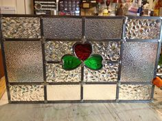 This panel was a rebuild the lead was in terrible shape.  The window literally fell apart in my hands when I went to carry it into my shop. I replaced the lead and some of the old glass that was broken. It turned out beautifully. The customer was thrilled when they got it back!!!