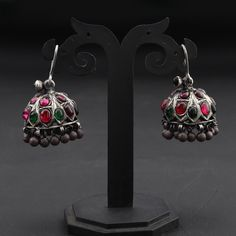 Oxidised Jewellery, Silver Jewellery, Silver Earrings, Stud Earrings, Indian Designer Suits, Neck Piece, 925 Silver, Madness, Jewerly