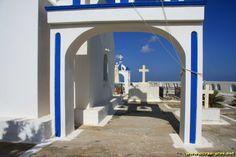 Eglise entre Pyrgos et Fira - Santorin - Grece