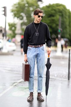 http://chicerman.com  mensstreetstyles:  From Smart Casual to Find Out Your Taste  #streetstyleformen